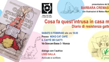Saturday 8 February: Meeting with the author of the book What does this intruder do to me? Diary of resistance against cats